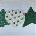Unscented Coasters - Holiday Shape