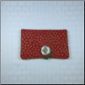 Red Scroll Button Envelope