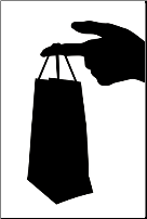 gift bag hand delivery photo by Kostiantyn Gerashchenko | Dreamstime.com