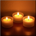 Tea Candle Holders - Frosted Glass